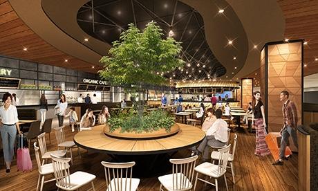 2階出発口横に設ける大型フードホール「the foodtimes」イメージ