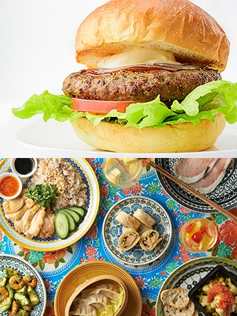 宮古島のハンバーガー店「DOUG'S BURGER」(上)とアジア料理店「HAY HAY MAMBO」が新規出店