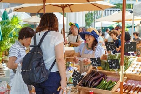 JR博多駅前広場で「博多ファーマーズマーケット」が開催