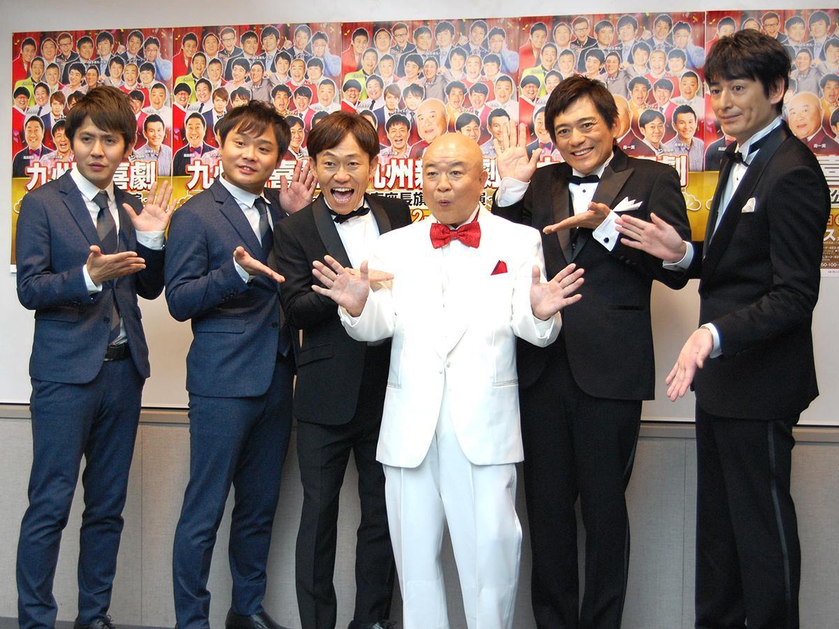 (左から)サカイスト、ケン坊田中さん、寿一実さん、博多華丸・大吉