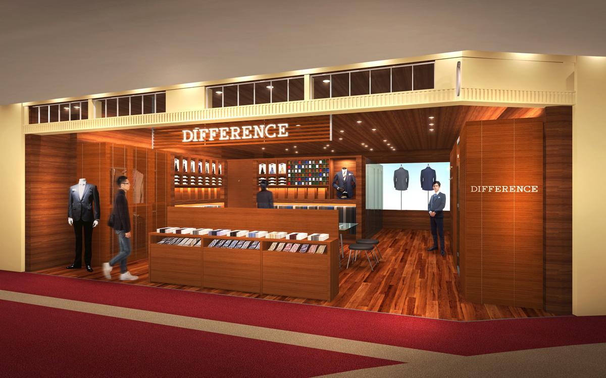 キャナルシティ博多にオーダースーツブランド「DIFFERENCE」がオープン(店舗イメージ)