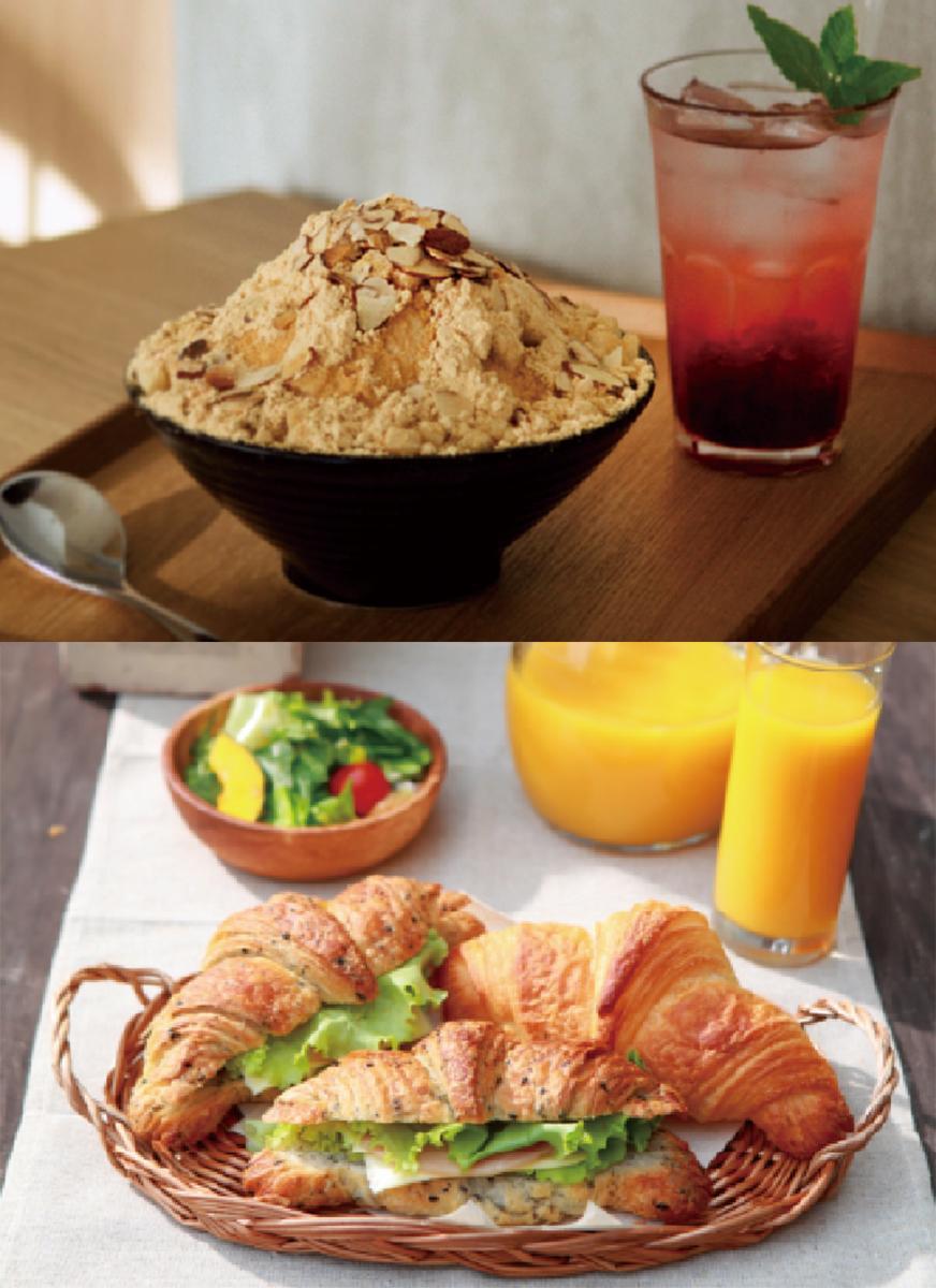 韓国発デザートカフェ「ソルビン」(上)と「三日月屋カフェ」など17店が新装