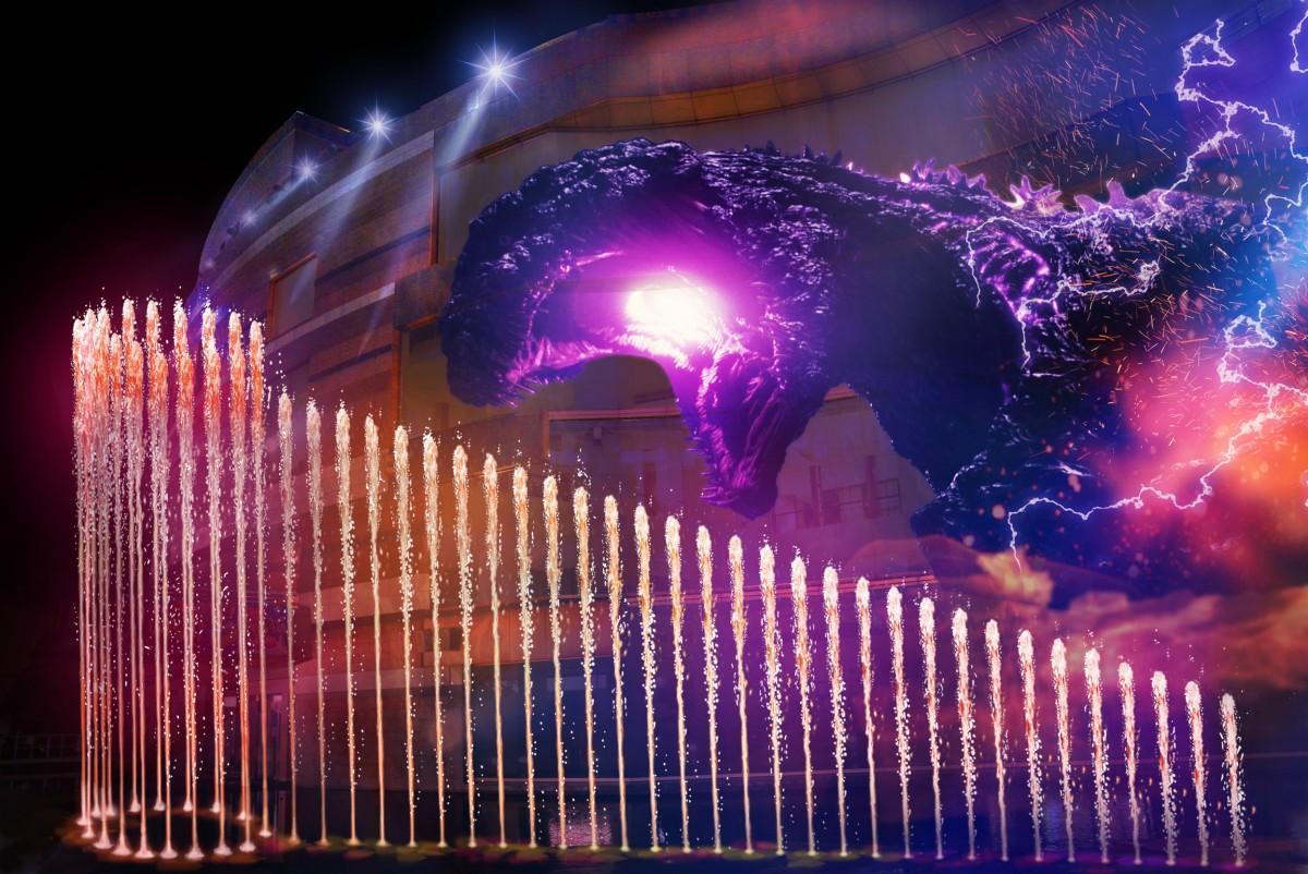 「キャナルアクアパノラマ」第6弾に映画「ゴジラ」のオリジナルショーを上演 ©TOHO CO., LTD.  ※画像は映像上演のイメージ