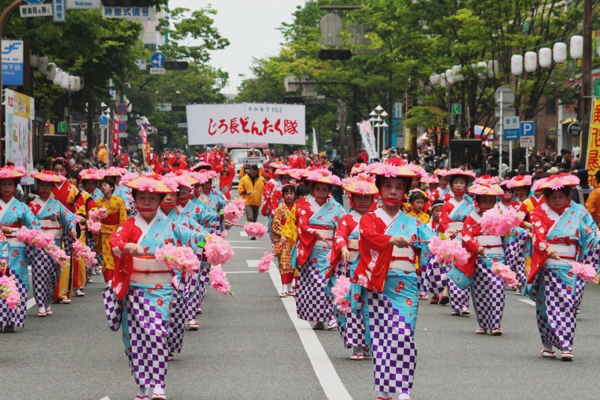 「第57回博多どんたく港まつり」が開催(写真は昨年のパレードの様子)