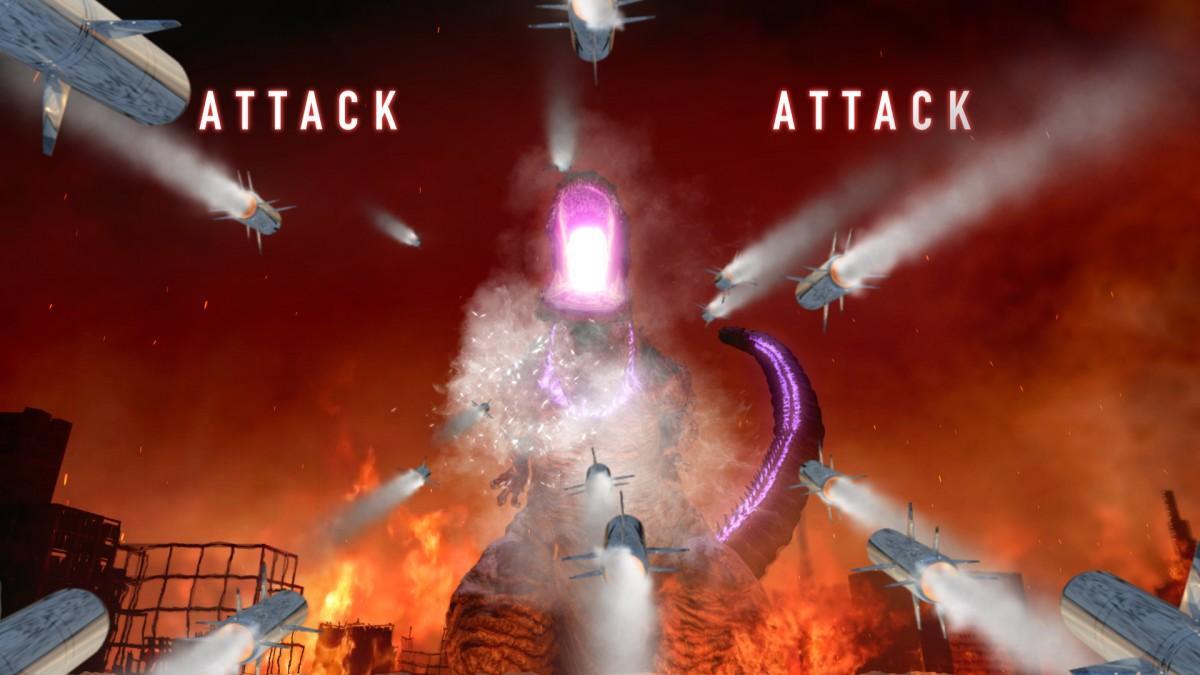 ゴジラをミサイルで攻撃する様子(イメージ) TM&©TOHO CO., LTD.