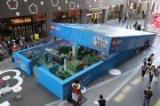 博多駅前で「超巨大 入れるレゴシティ」 実物の1万1000倍のレゴシティが来場者出迎え