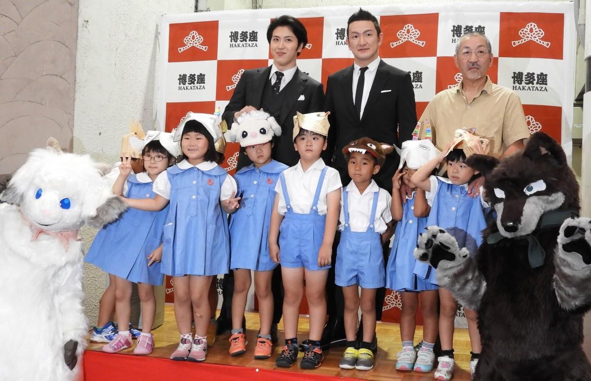 博多座11月公演を行う中村獅童さん、尾上松也さんら