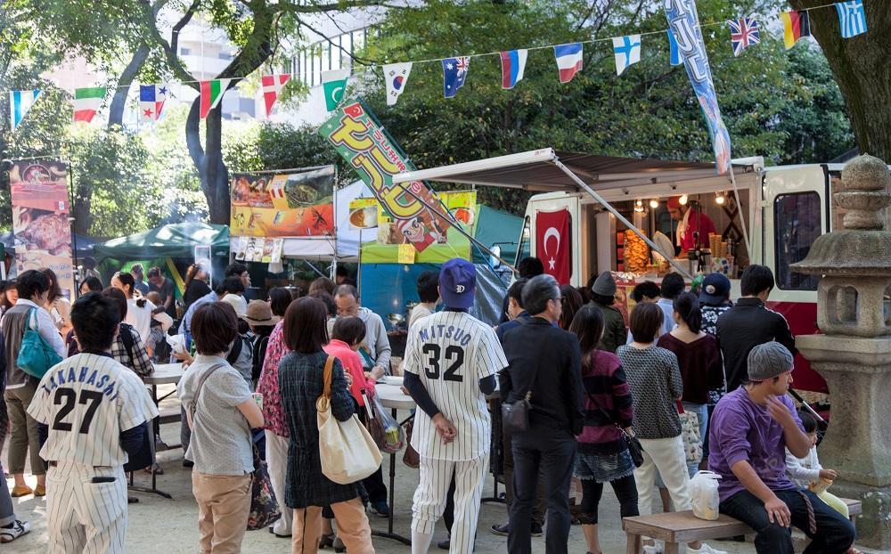 住吉神社で「大博多輸入雑貨市」(過去開催の様子)