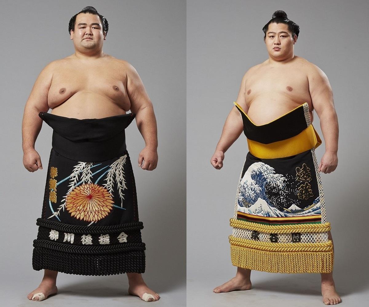 KITTE博多で琴奨菊関(左)・遠藤関の「トークショー&握手会」