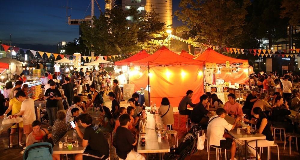 清流公園で「新年夜市」開催(昨年の様子)