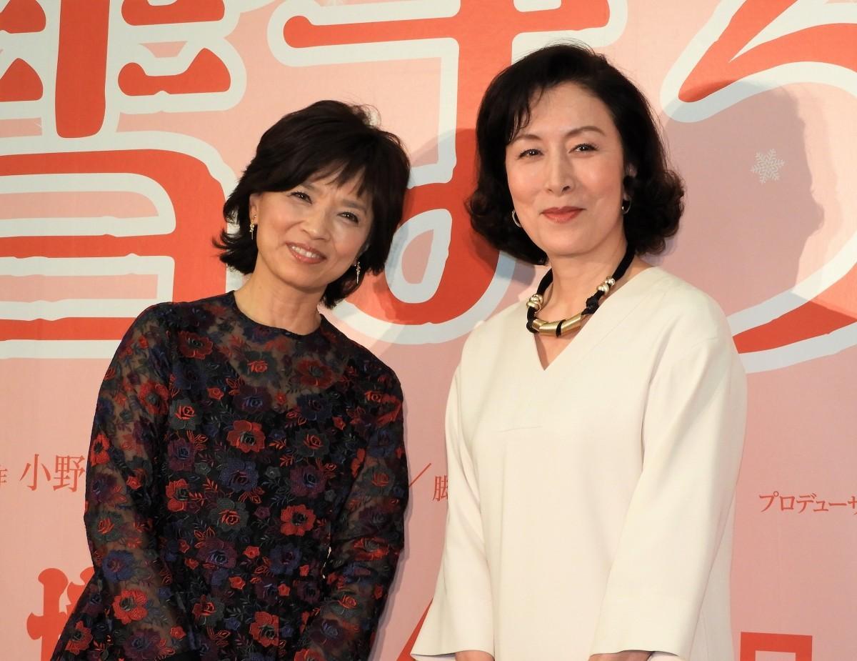 (左から)博多座4月公演「雪まろげ」に出演する榊原郁恵さん、高畑淳子さん