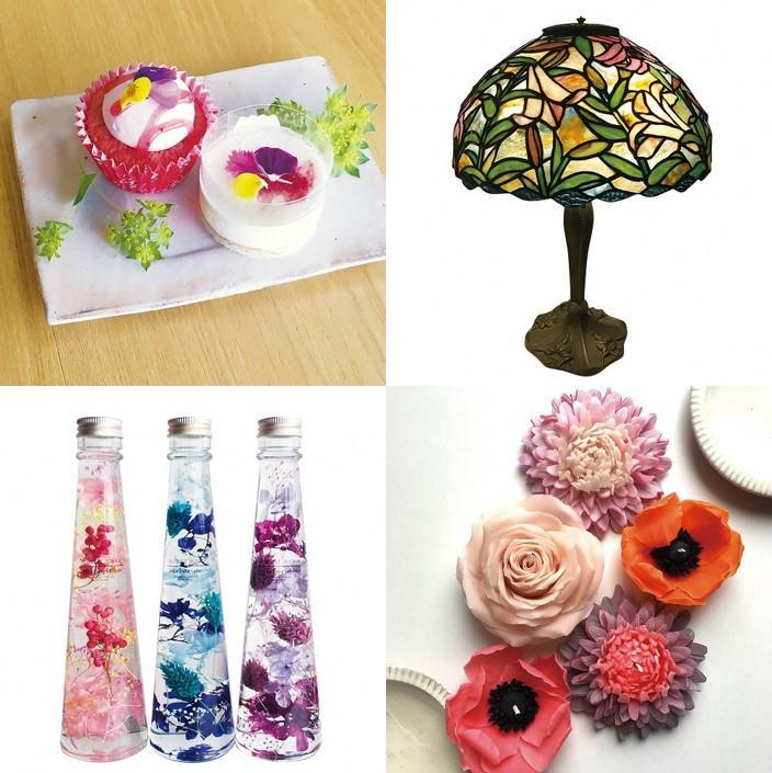 「花のプティフール」や、週ごとに開催の展示・ワークショップなど