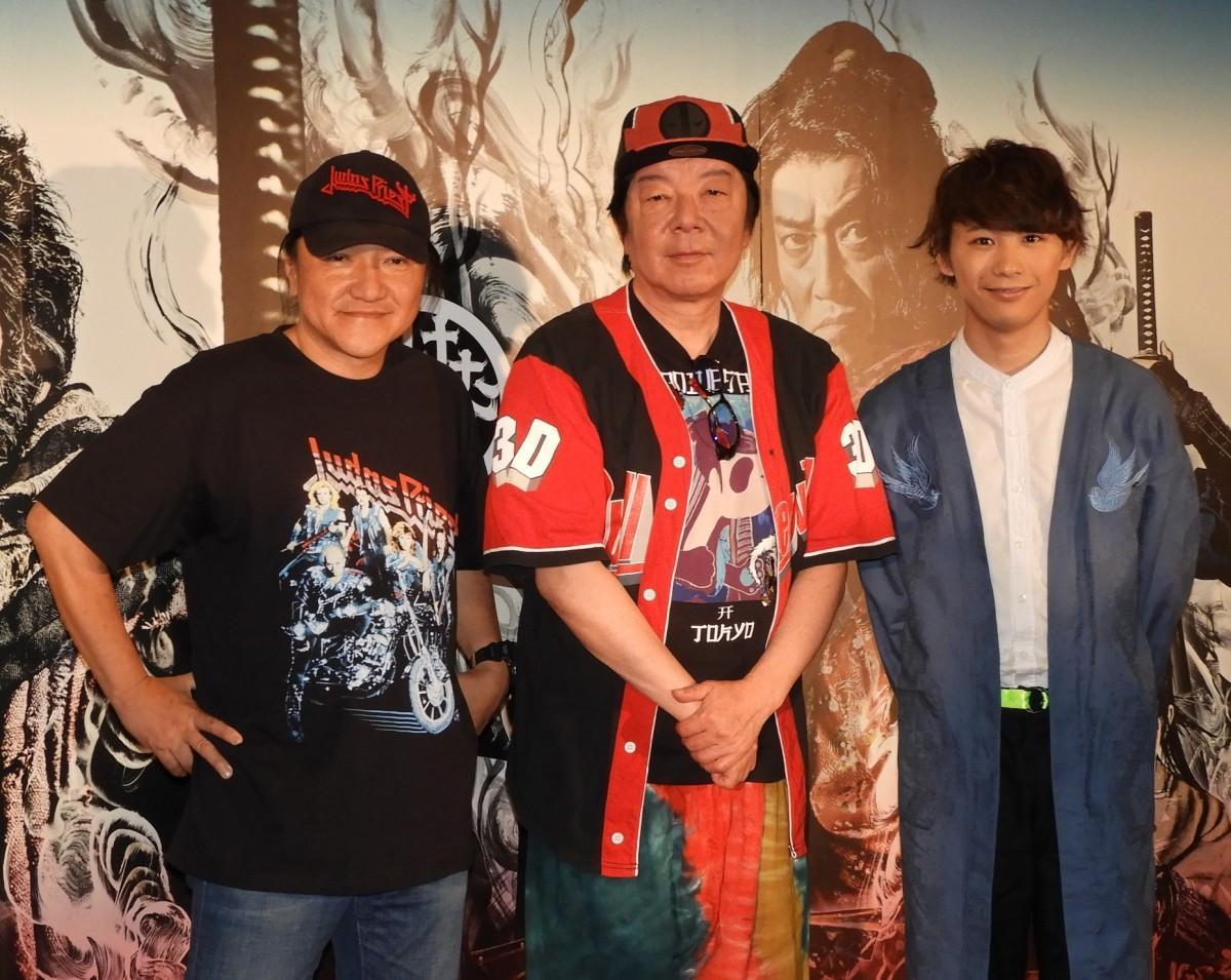 (左から)いのうえひでのりさん、古田新太さん、須賀健太さん