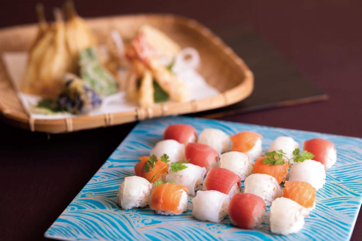 「開業20周年記念 プレミアムブッフェ」の「おちょぼ寿司」