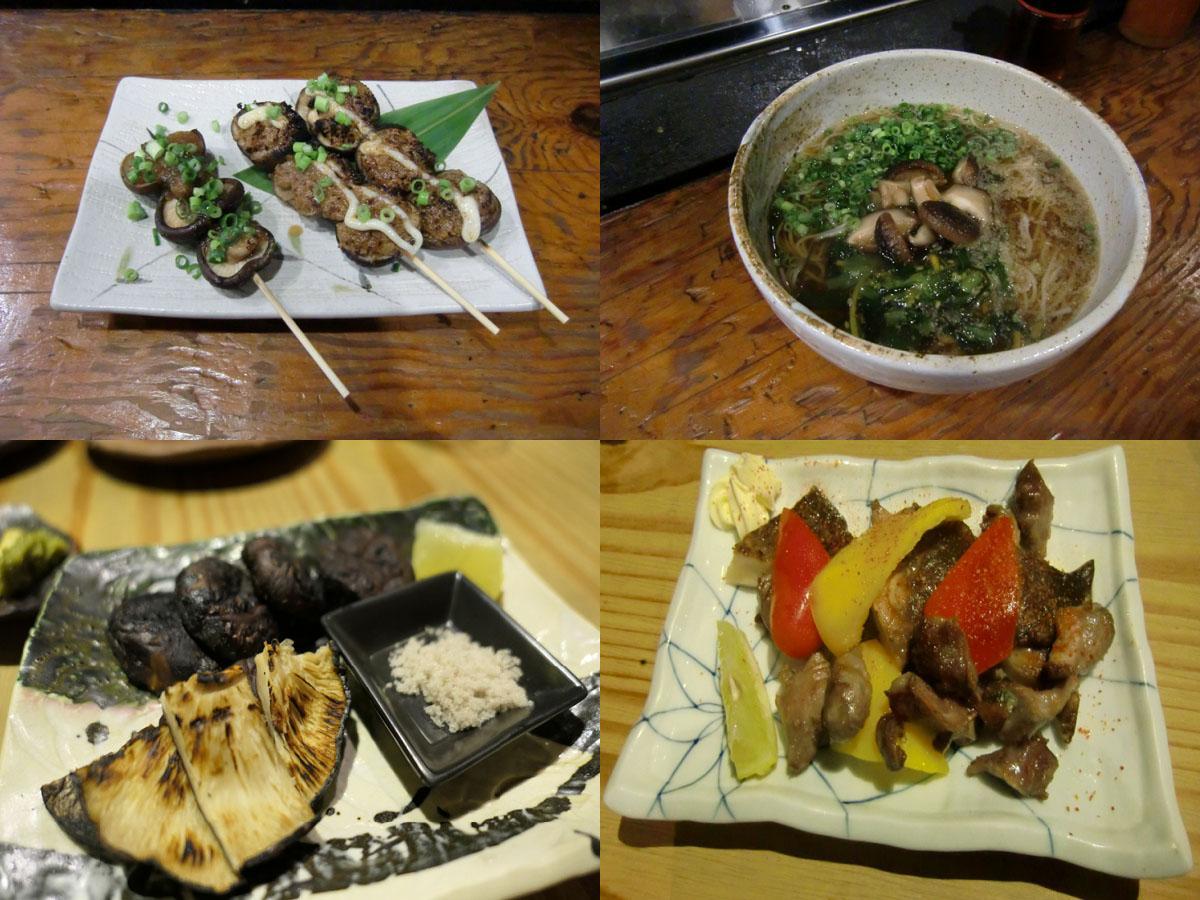 「宮崎県産乾しいたけ料理の店」の乾しいたけ定番メニュー
