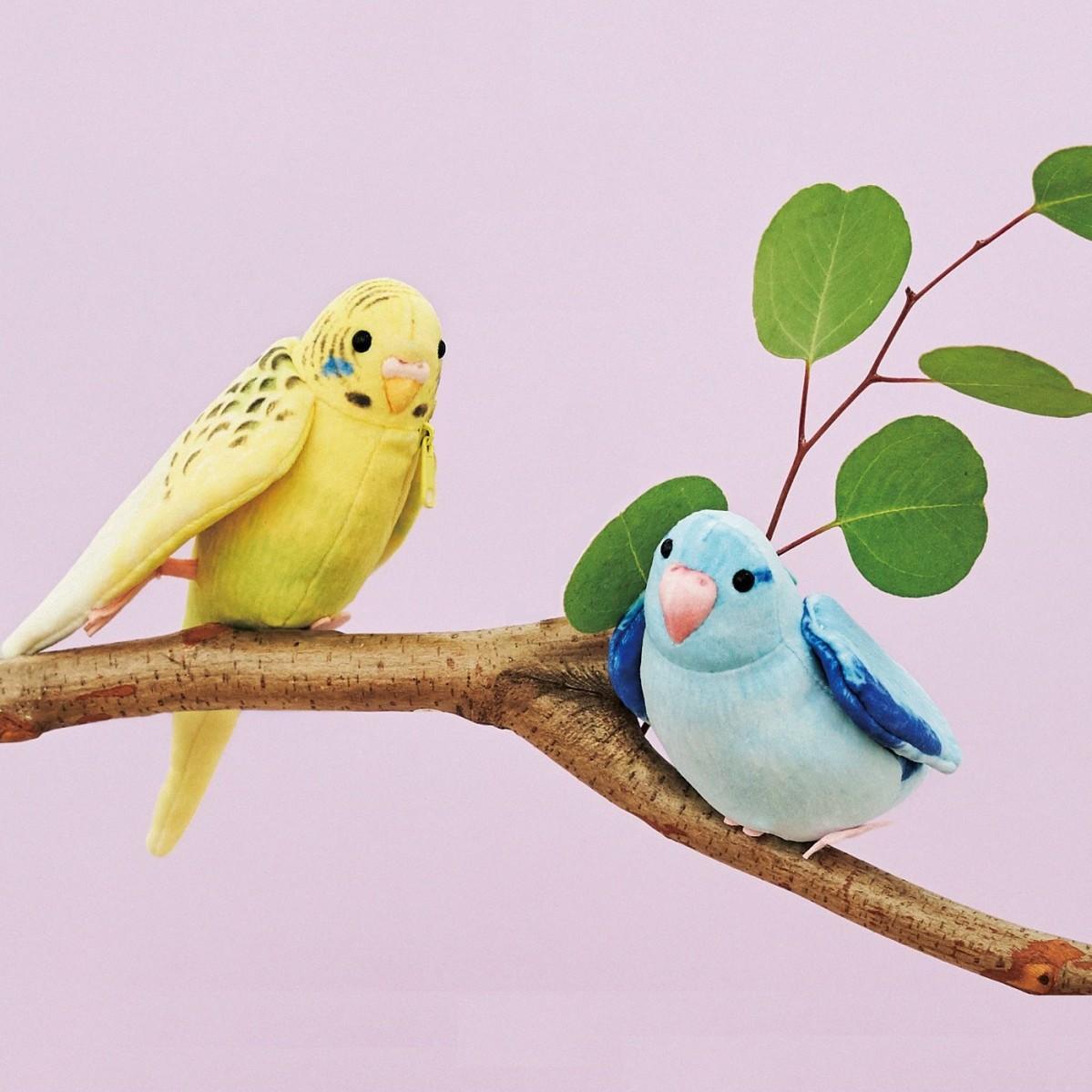 「フェリシモ 小鳥部」の「YOU+MORE!×小鳥部 もふもふインコポーチ」