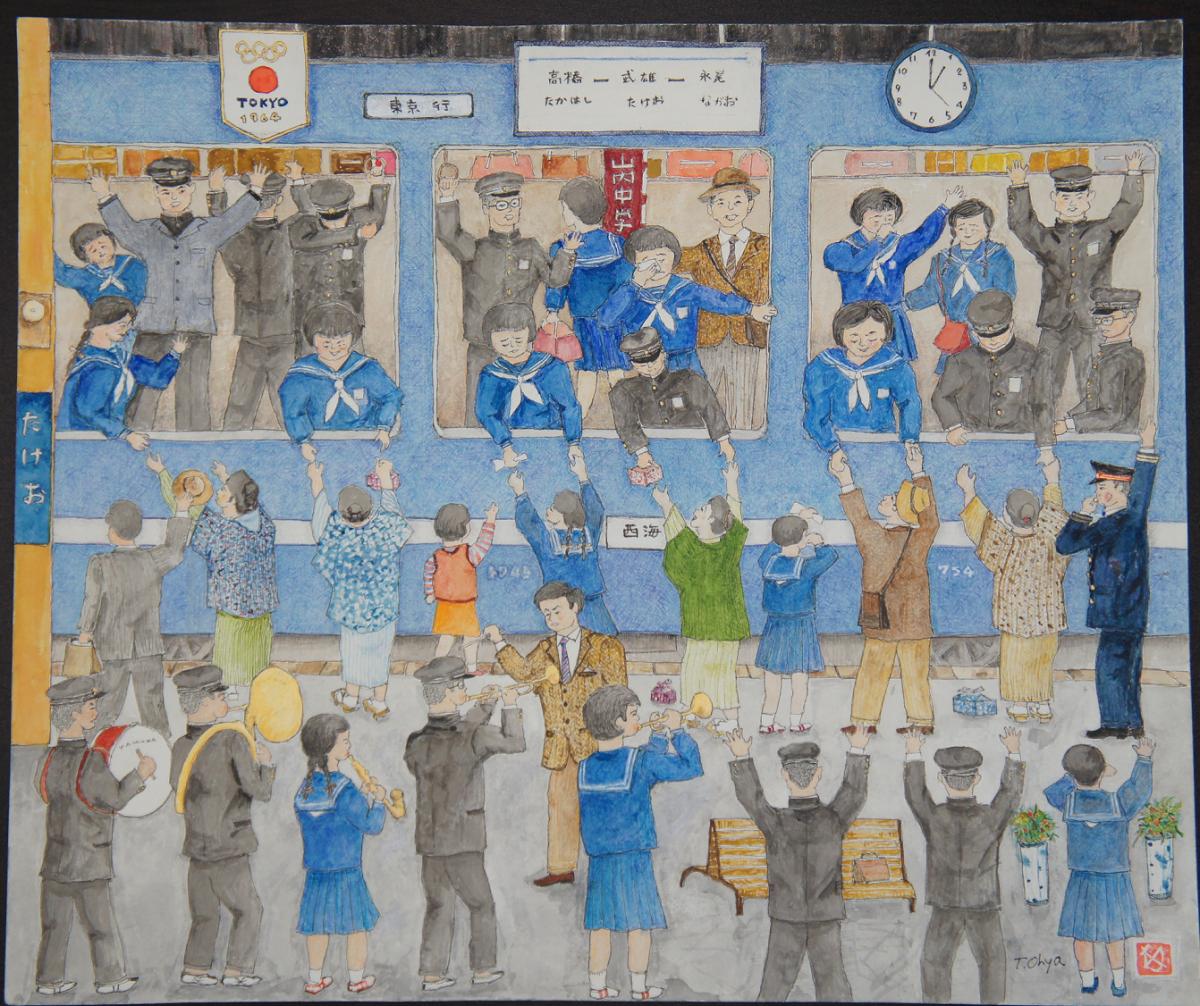 第23回市長賞受賞作品「遠い日、十五の旅立ち」(写真提供=「博多町家」ふるさと館)