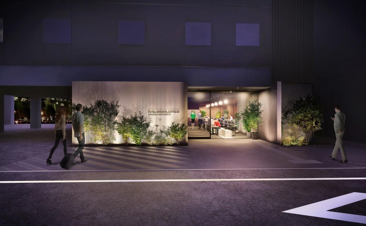 「ホテル オリエンタル エクスプレス 福岡中洲川端」エントランスイメージ