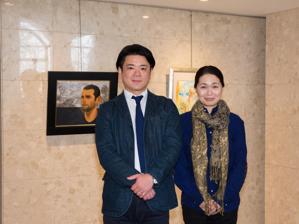 普段は絵画教室の講師を務める画家の三浦卓也さんと月村朝子さん