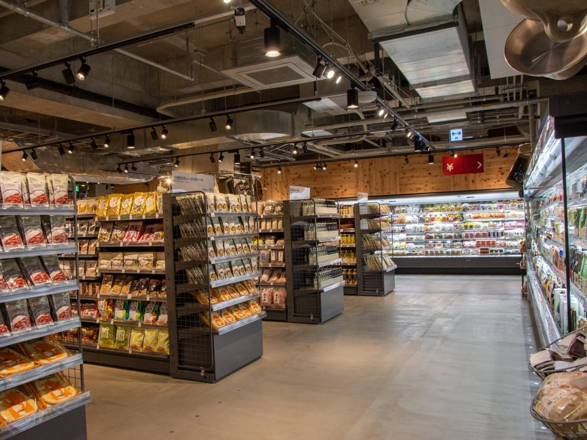 シエスタハコダテの地下1階に無印良品が展開する食品専門売り場