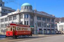函館市電「箱館ハイカラ號」が150分の1プラキットに 12月発売へ