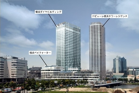 ヨコハマポートサイド地区に2009年12月に竣工する超高層オフィスタワー