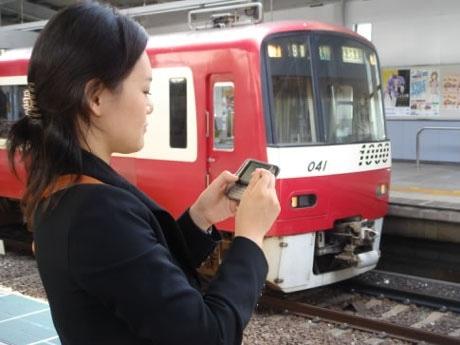 駅構内での無線LANサービス使用イメージ