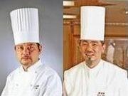崎陽軒本店総料理長の阿部義昭さん(左)、霧笛楼総料理長の今平茂さん(右)