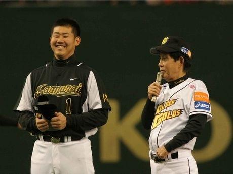 昨年1月「マスターズリーグ」で行われた茨城ゴールデンゴールズVS侍の特別試合(東京ドーム)