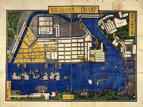 御開港横浜正景(1864年ごろ) 横浜開港資料館所蔵