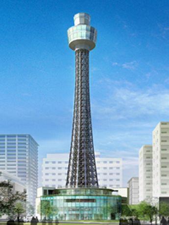 横浜マリンタワーの外観、紅白からシルバーに-来春オープン