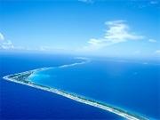 温暖化による海面上昇で沈んでしまう可能性があると言われている珊瑚島ツバル。