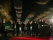 「横浜光のプロムナード」と 「ペリー上陸の光の道」の点灯式