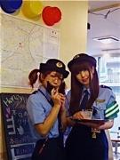 横浜駅西口のメード喫茶で「逮捕します」-春のハニハニ安全週間