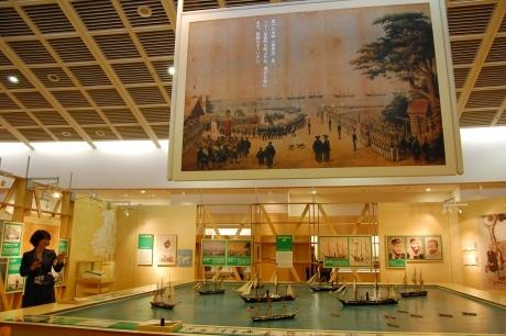 リニューアルオープン間近の「横浜みなと博物館」館内