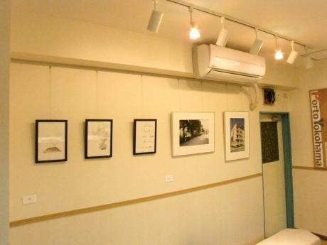 ホステル内の展示スペース「Porto Gallery」