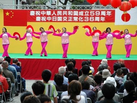 昨年行われた「国慶節」の様子