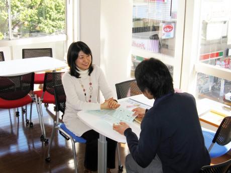 ユースポート横濱が行うキャリア相談の様子
