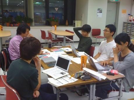 YAP(ヨコハマアクションプランナー)サポートチーム(企画実行委員会)の打合せ風景