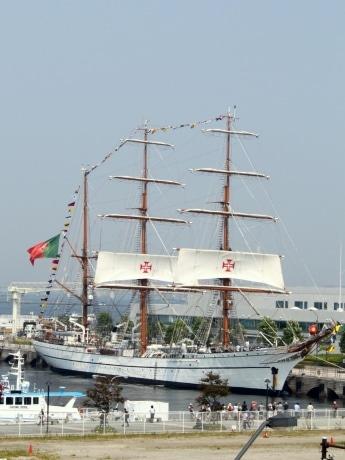 7月24日、横浜に初入港したポルトガルの帆船「サグレス号」