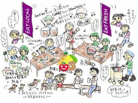 「80*80つながりのお祭り2010夏」イメージイラスト
