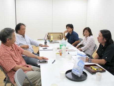 8月25日に行われた「ちぐさアーカイヴプロジェクト実行委員会」会議の様子