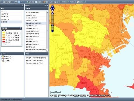 横浜市統計GISホームページ