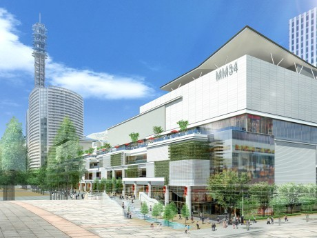 今回発表された商業施設の完成予想外観