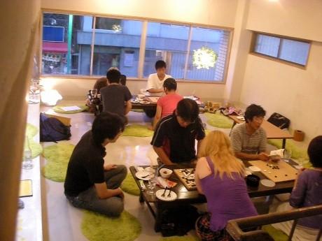 nitehi worksで前回行われた囲碁イベントの様子(主催は別)