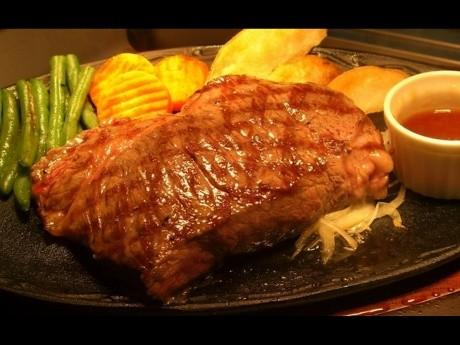 看板メニューの「ブッチャーズ☆ビーフステーキ」