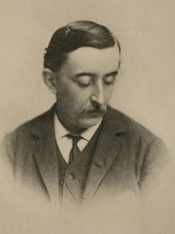 アイルランド人の作家、教育者、ジャーナリストで日本文化の紹介者として知られる「小泉八雲(ラフカディオ・ハーン)」の肖像写真(1889年頃)