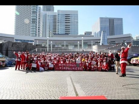 昨年行われた「横浜サンタプロジェクト~サンタが街にやってきた!」の様子