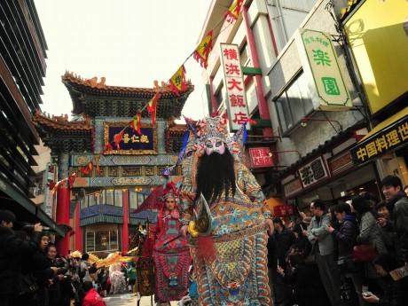 昨年の横浜中華街「春節」の様子(祝舞遊行)