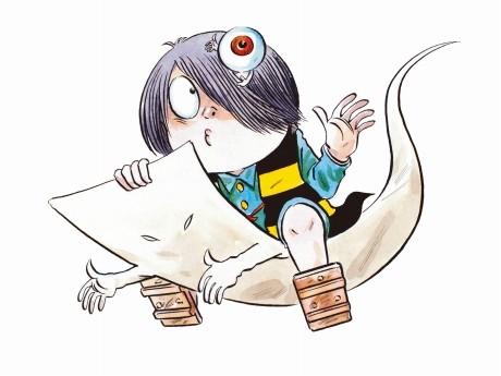 「鬼太郎」と「一反もめん」©水木プロダクション